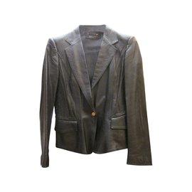 Veste courte en cuir - Gucci