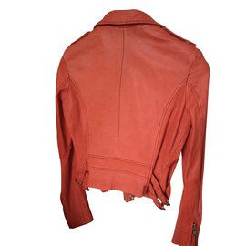 Iro-Biker jackets-Peach