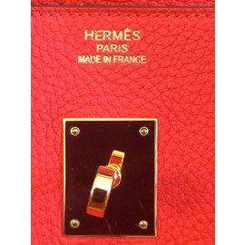 Hermès-Birkin 35 Capucine-Red