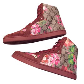 Gucci-High tops in size 36-Red
