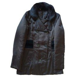 Manteau avec col en fourrure - Gucci