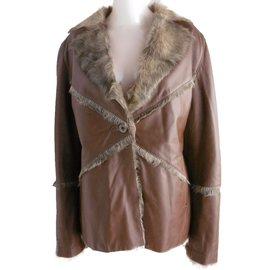 Veste cuir et fourrure - Balmain