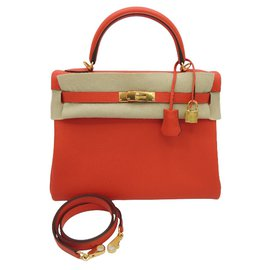 Kelly II veau evercolor rouge tomate - Hermès