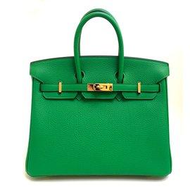 Hermes Birkin 25cm Bamboo Togo Leather Gold Hardware - Hermès