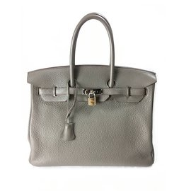 Hermes Birkin 35 Clemence Etain SHW - Hermès