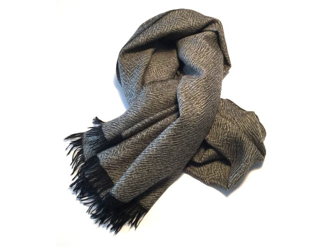 Eric Bompard Scarves Scarves Cashmere Dark grey ref.5223 - Joli Closet 1542a4621b9