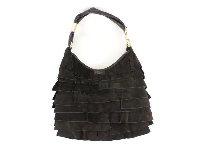 Yves Saint Laurent Handbags Handbags Deerskin Brown ref.5229 - Joli ... 205b36899437f