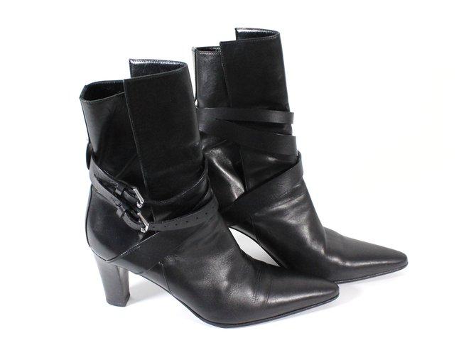 Hermès Boots Boots Leather Black ref.5294