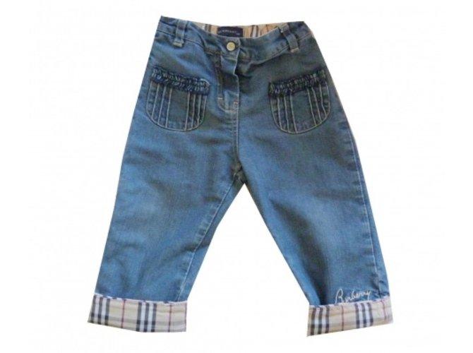 Burberry Jeans Jeans Cotton Blue ref.5597