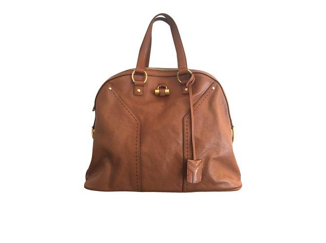312d3ef8131c9 Yves Saint Laurent Handbags Handbags Leather Caramel ref.5668 - Joli ...