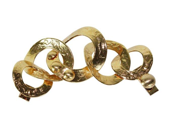 Bracelets Louis Vuitton Bracelet manchette Métal Doré ref.5761
