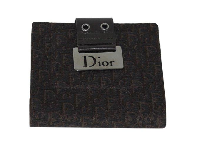 Petite maroquinerie Christian Dior Portefeuille Tissu Marron ref.5780 88f398078d2