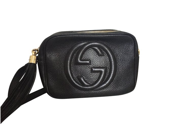 ceda16b513d7 Gucci Handbags Handbags Leather Black ref.5799 - Joli Closet