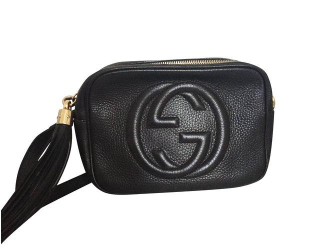 afce1a918cce Sacs à main Gucci Disco Bag Soho Cuir Noir Cuir Noir ref.5799 - Joli ...