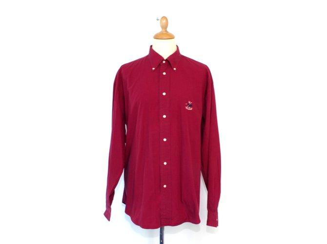 92517a8f01b41 Tops Façonnable Chemise Coton Rouge ref.5836 - Joli Closet