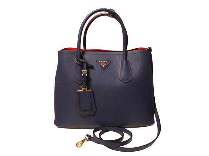 9c53eac04e ... coupon for prada handbags handbags leather blue ref.5947 e2a48 628d9  best ...