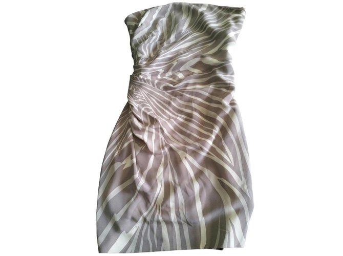 Robes Gucci Robe Bustier Soie Beige Ref 5968 Joli Closet