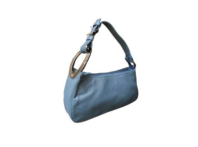 Sergio Rossi Handbags Leather Blue Ref 6119