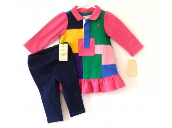 97cc352e31ae Les ensembles fille Polo Ralph Lauren Ensemble bébé Coton Multicolore  ref.6137