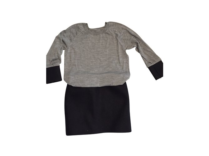 Jay Ahr Dresses Wool Grey Ref 6651