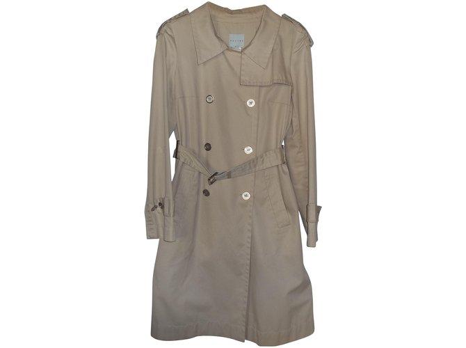 Céline Trench coats Trench coats Cotton Beige ref.6759