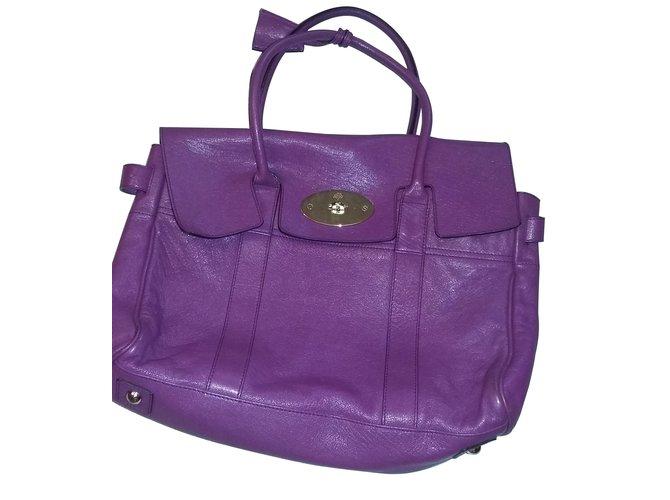 6f5ec69816cf ... denmark mulberry handbags handbags leather purple ref.7037 6d851 30868