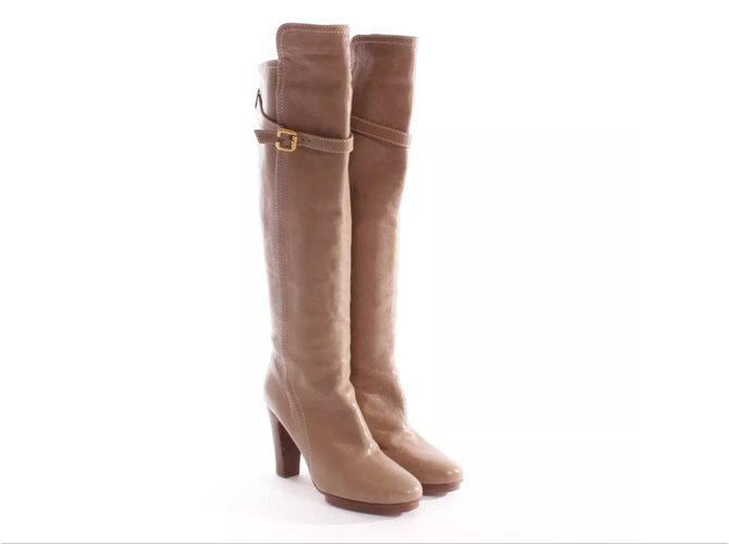 Chloé Boots Boots Leather Caramel ref.7074