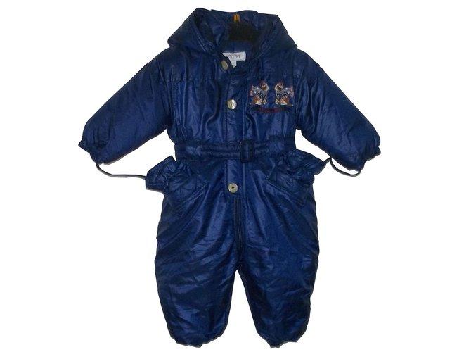 Combinaison garçon Baby Dior Combinaison Polyester Bleu ref.7092