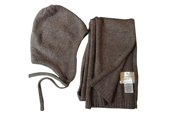 Chapeaux, bonnets, gants Eric Bompard Chapeaux, bonnets, gants Cachemire Taupe ref.7226