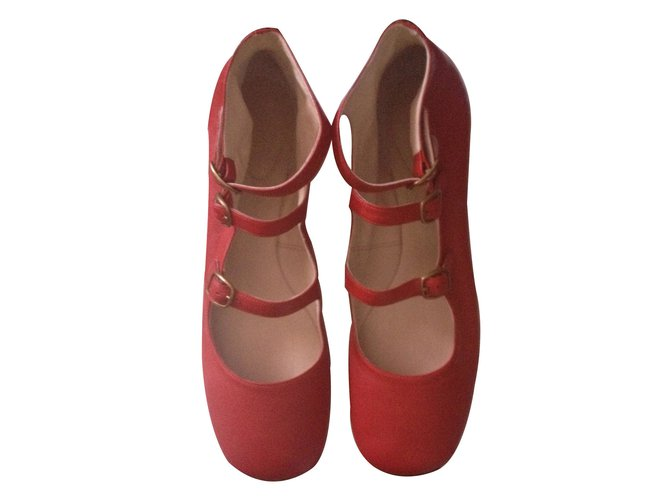 Chloé Ballet flats Ballet flats Leather Red ref.7304