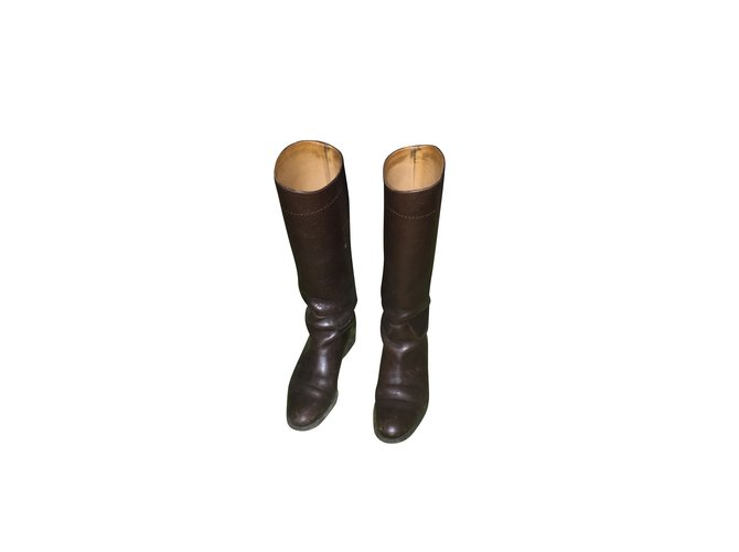 Burberry Boots Boots Leather Brown ref.7430