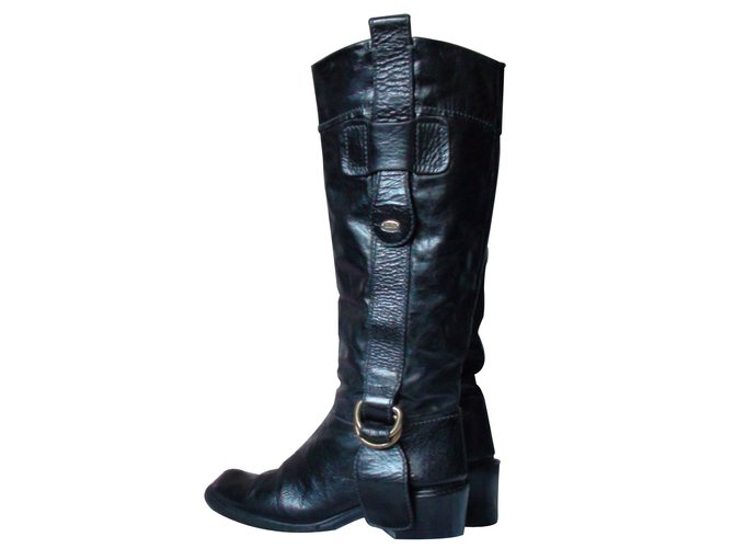 Chloé Boots Boots Leather Black ref.7552