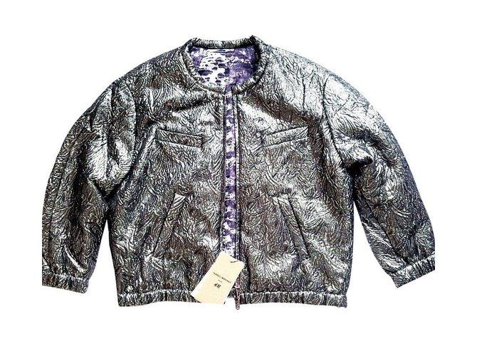 285b3fe8e9 Isabel Marant Pour H M Jackets Jackets Silk Silvery ref.7597 - Joli ...