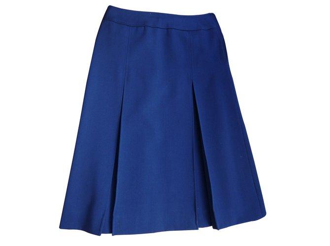 Burberry Skirts Skirts Wool Blue ref.7936