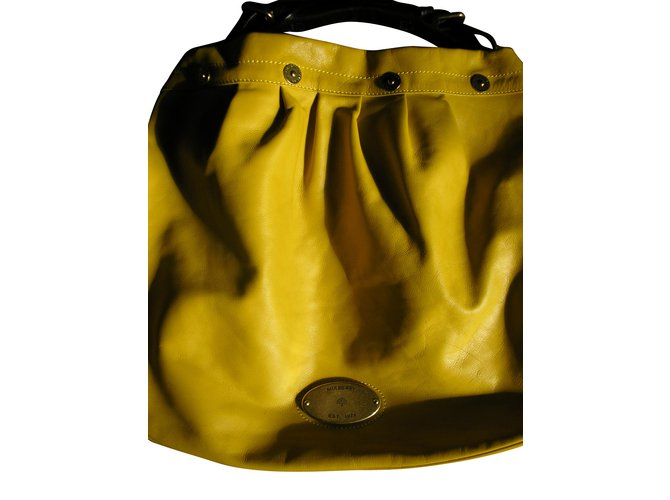 Mulberry Handbags Handbags Leather Yellow ref.8062