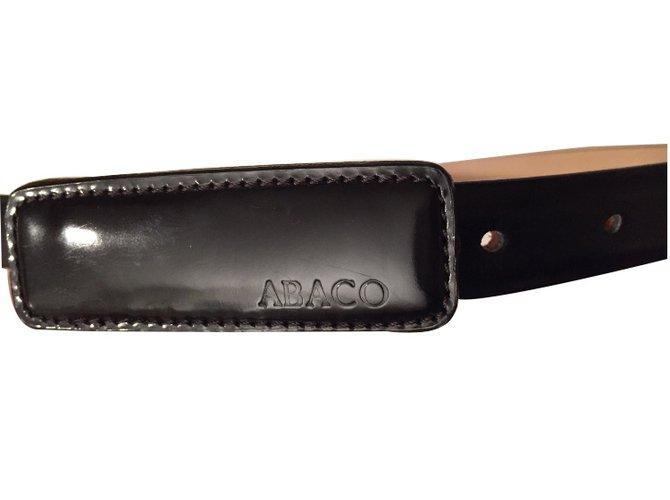 40a88af71f18 Ceintures Abaco Ceintures Cuir Noir ref.8139 - Joli Closet