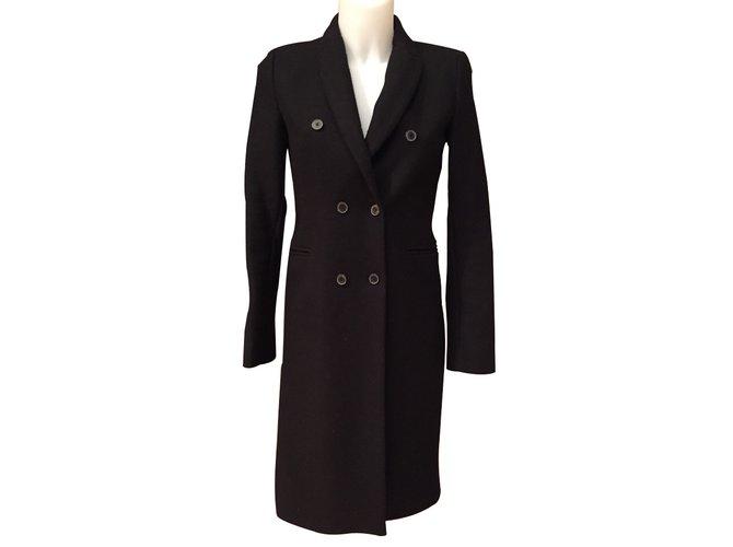 manteaux zara manteaux laine noir joli closet. Black Bedroom Furniture Sets. Home Design Ideas