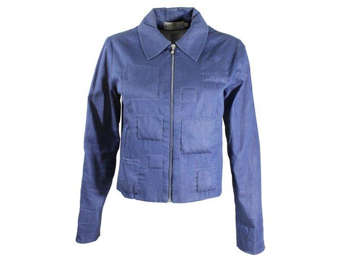d4ed5bf6e7e39 Vestes Givenchy Veste courte Coton Bleu ref.8421 - Joli Closet