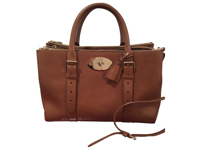Mulberry Handbags Leather Caramel Ref 8527