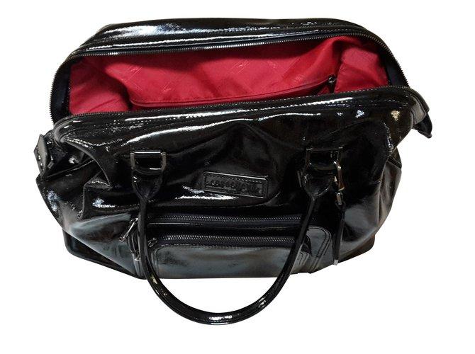 3b4f24a6aa Sacs à main Longchamp Légende Cuir vernis Noir ref.8608 - Joli Closet