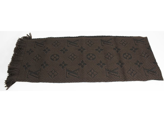 Foulards Louis Vuitton Echarpe Soie,Laine Marron ref.8655 - Joli Closet 6bb9383cbbe