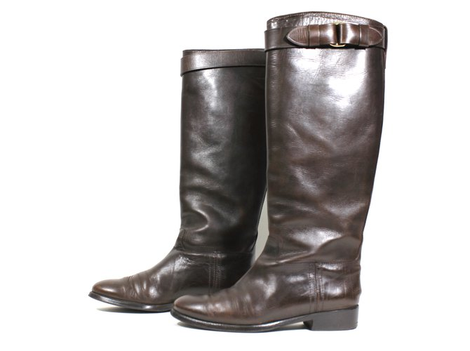 Burberry Boots Boots Leather Brown ref.8742