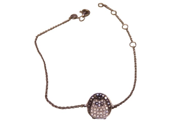 Djula Bracelets Silvery White gold  ref.8807