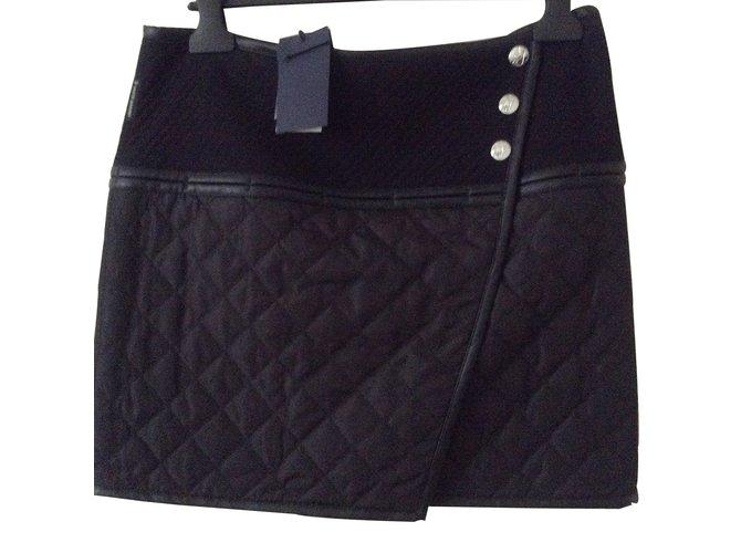 4bb174e81a85 Jupes Armani Jeans Jupe portefeuille Coton Noir ref.8858 - Joli Closet