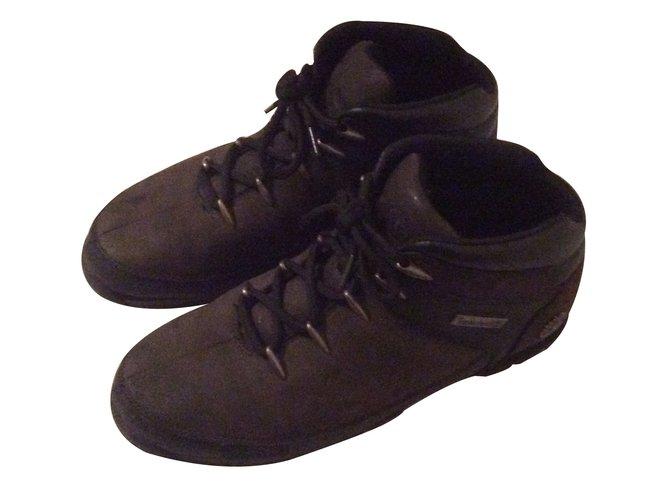 timberland cuir noir homme