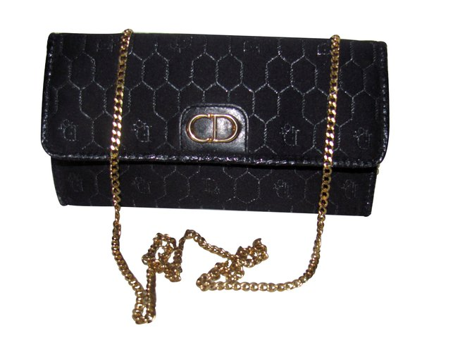 Christian Dior Clutch bags Clutch bags Cloth Black ref.9226 - Joli ... 984812b872984