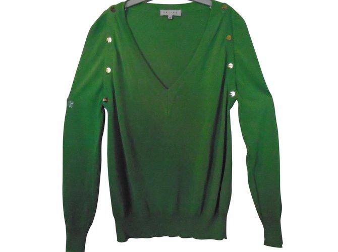 Céline Knitwear Knitwear Viscose Green ref.9264