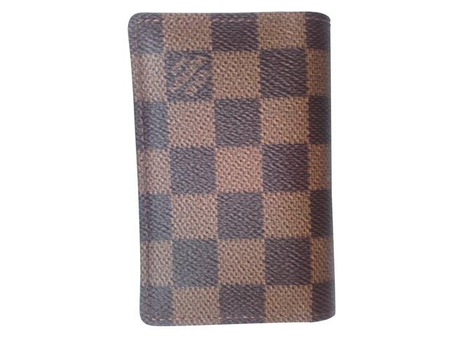 40a0243b8ae Louis Vuitton Wallets Small accessories Wallets Small accessories Leather  Brown ref.9283