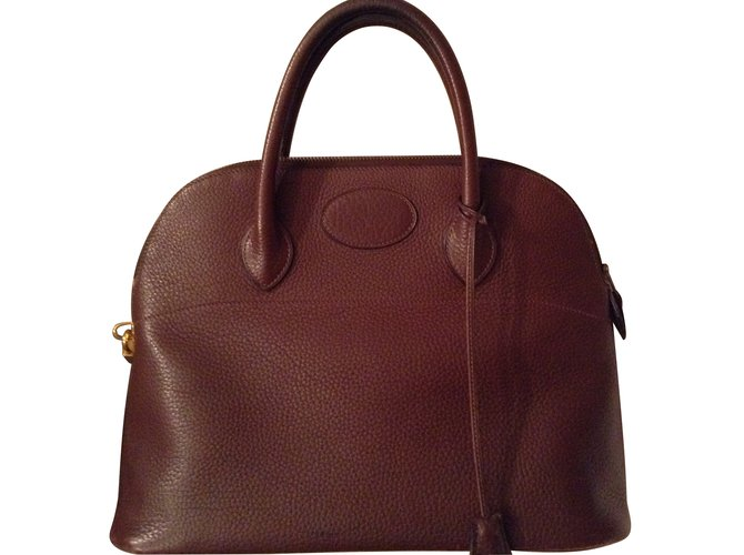 Hermès Handbags Handbags Leather Brown ref.9350