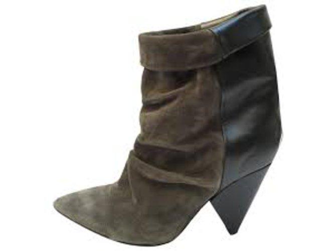 Finishline Vente Pas Cher Isabel Marant Boots Sade suède & cuir 39 Vente Amazon Pas Cher Pas Cher En Ligne Vraiment Pas Cher La Vente En Ligne 7zb04jJWcO